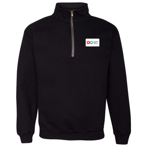 Unisex Quarter Zip Sweatshirt - BLACK