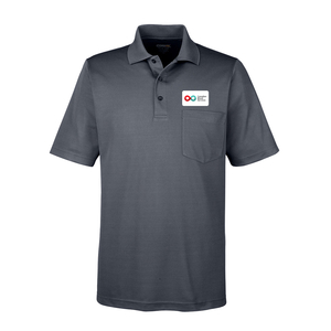 Mens Polo with Pocket - CHARCOAL