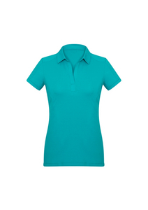 Ladies Teal Polo