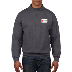 Unisex Quarter Zip Sweatshirt - TWEED
