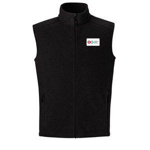 Mens Fleece Vest - BLACK
