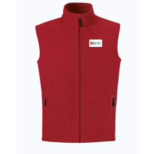 Mens Fleece Vest - RED