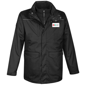 Mens 3-in-1 Jacket - BLACK