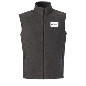 Mens Fleece Vest - CHARCOAL