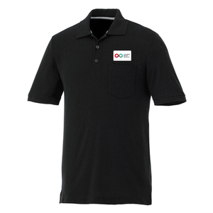 Mens Polo with Pocket - BLACK