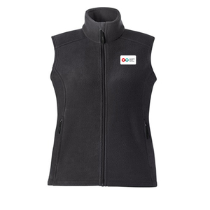 Ladies Fleece Vest - CHARCOAL