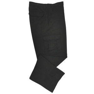 Unisex Black Cotton Cargo Pants