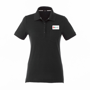 Ladies Polo with Pocket - BLACK