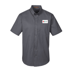 Mens Short Sleeve Shirt - DARK CHARCOAL