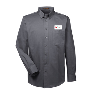 Mens Long Sleeve Shirt - DARK CHARCOAL