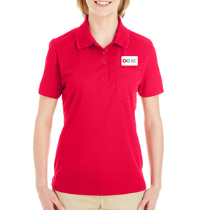 Ladies Polo with Pocket - RED